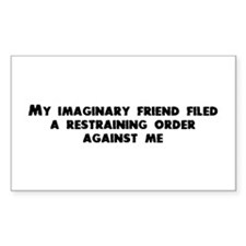 Imaginary friend Rectangle Decal