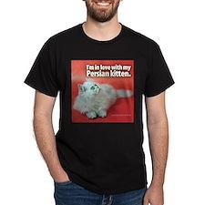 Persian Cat Black T-Shirt
