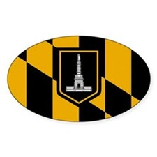 Baltimore City Flag Oval Decal
