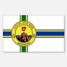 Little Rock City Flag Rectangle Decal