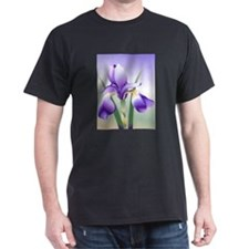 Purple Iris symbol for gynecologic cancer with sky