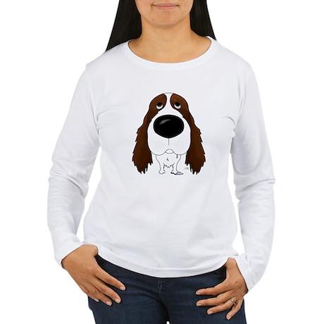 Big Nose Springer Spaniel Women's Long Sleeve T-Sh