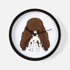 Big Butt Springer Spaniel Wall Clock
