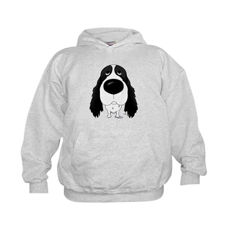 Big Nose Springer Spaniel Kids Hoodie