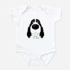 Big Nose Springer Spaniel Infant Bodysuit