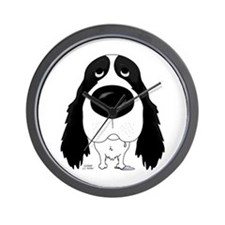 Big Nose Springer Spaniel Wall Clock