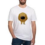 Big Nose/Butt Golden Fitted T-Shirt