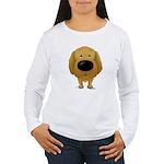 Big Nose/Butt Golden Women's Long Sleeve T-Shirt