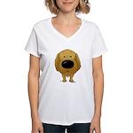 Big Nose/Butt Golden Women's V-Neck T-Shirt