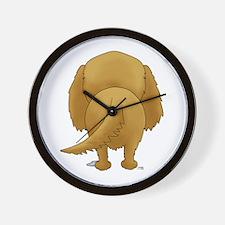 Big Butt Golden Retriever Wall Clock