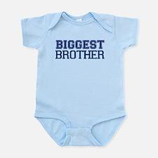 biggest brother t-shirt varsity Infant Bodysuit