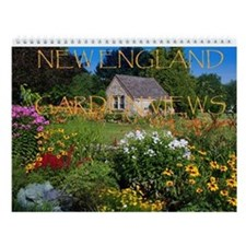 New England Garden Views Wall Calendar