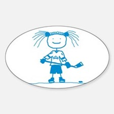 Ice Princess (blue) Oval Decal