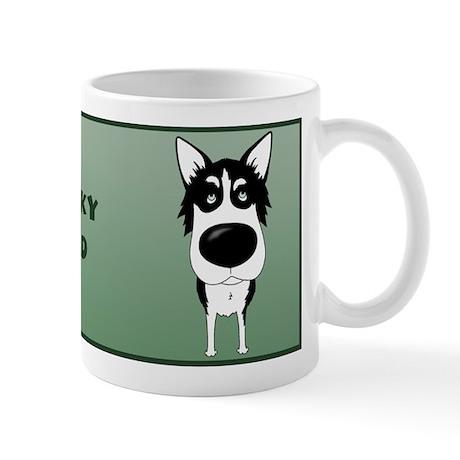 Big Nose Husky Dad Mug