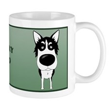 Big Nose Husky Dad Mug