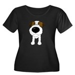 Big Nose Jack Women's Plus Size Scoop Neck Dark T-