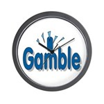 I Gamble Wall Clock