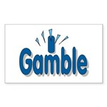 I Gamble Rectangle Sticker