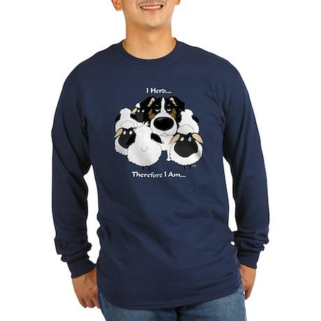 Aussie - I Herd... Long Sleeve Dark T-Shirt