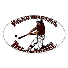 PASO ROBLES BASEBALL (3) Oval Decal