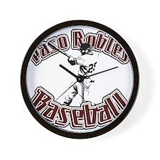 PASO ROBLES BASEBALL (5) Wall Clock