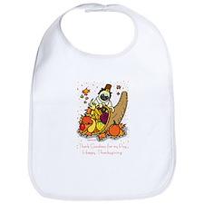 Unique Pug thanksgiving Bib