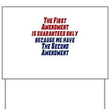 2nd Amendment Gun Yard Sign