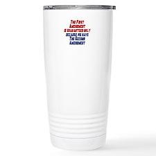 2nd Amendment Gun Travel Mug