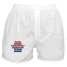 2nd Amendment Gun Boxer Shorts