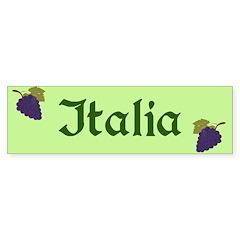 Italia Grapes Mint Green Bumper Bumper Sticker