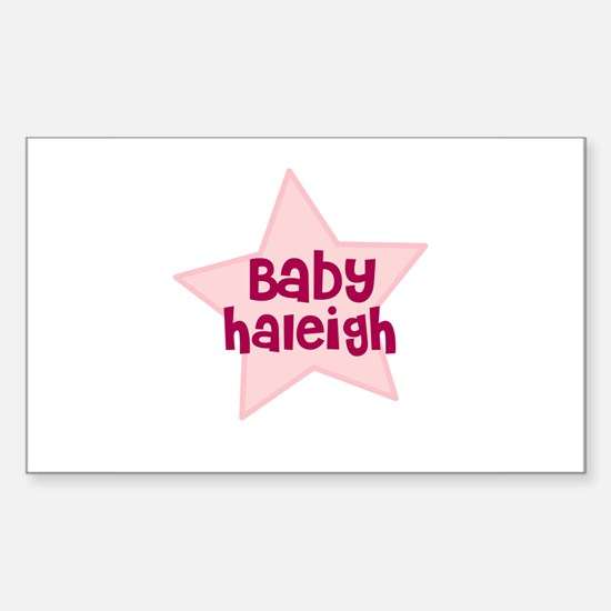 Baby Haleigh Rectangle Decal