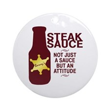 Steak Sauce Ornament (Round)