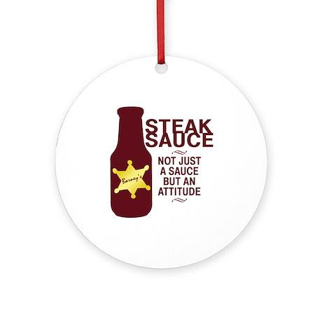 Steak Sauce Ornament (Round)