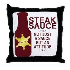 Steak Sauce Throw Pillow