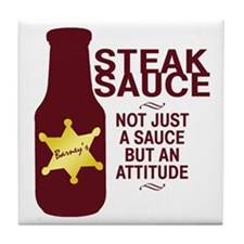 Steak Sauce Tile Coaster