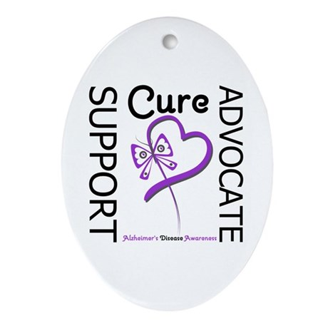 Alzheimer's Support_Advocate Oval Ornament