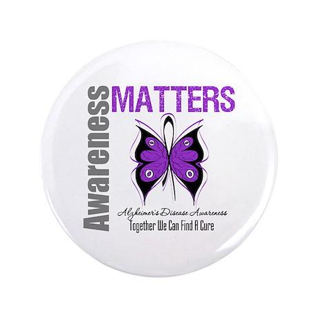 """Alzheimer's AwarenessMatters 3.5"""" Button (100 pack"""