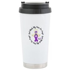 Alzheimer's AngelRibbon Travel Coffee Mug