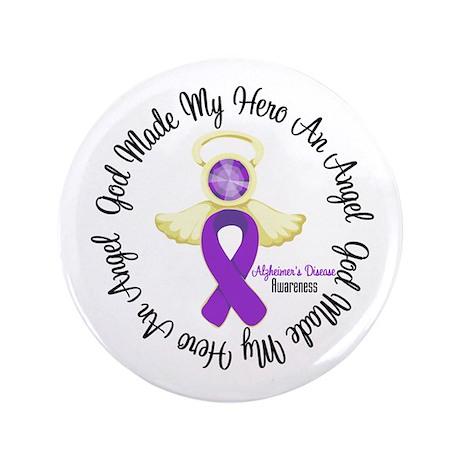 "Alzheimer's AngelRibbon 3.5"" Button (100 pack)"