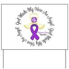Alzheimer's AngelRibbon Yard Sign