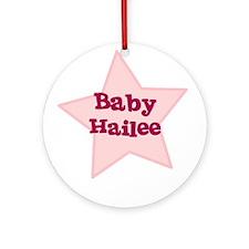 Baby Hailee Ornament (Round)