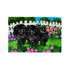BLACK CHOW CHOW DOGS GARDEN Rectangle Magnet