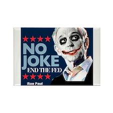 Ron Paul - No Joke End the Fe Rectangle Magnet (10