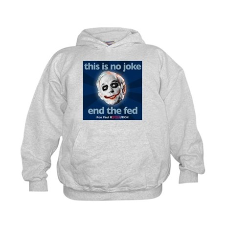 Ron Paul - No Joke End the Fe Kids Hoodie