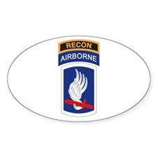 173rd ABN with Recon Tab Oval Decal