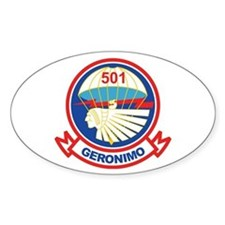 501st Airborne (Geronimo) 2 Oval Decal