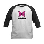 Butterfly - Megan Kids Baseball Jersey