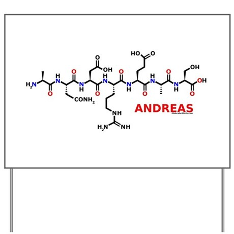 Andreas name molecule Yard Sign