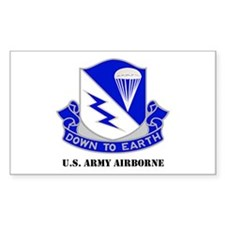 Army Airborne School Rectangle Decal
