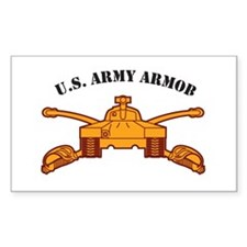 Armor Branch Insignia U.S. Ar Rectangle Decal